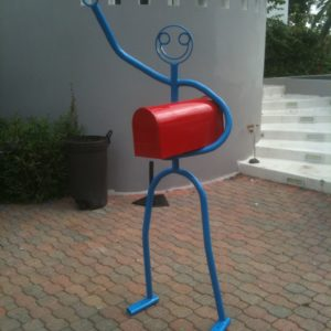 Blue and red mailbox $1,500